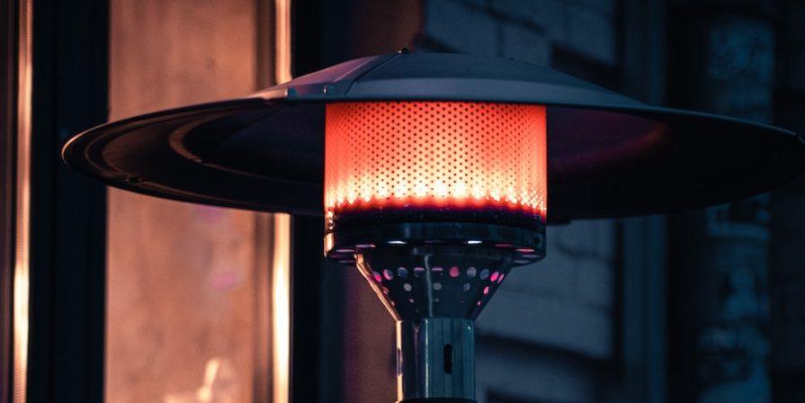 Porch heater at night