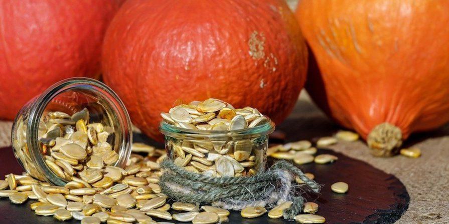 Pumpkin and seeds and pumpkins