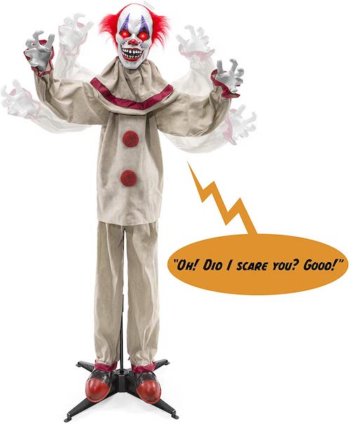 Scary Harry The Motion Activated Animatronic Killer Clown