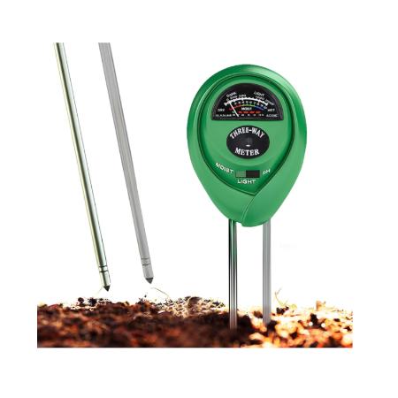 Soil pH Meter, 3-in-1 Soil Test Kit For Moisture, Light & pH