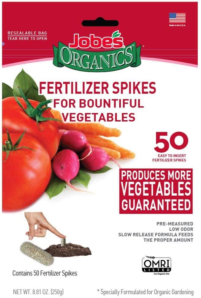 Jobe's Organics Vegetable & Tomato Fertilizer Spikes