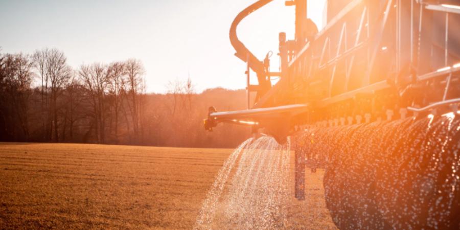 Tractor Fertilizing