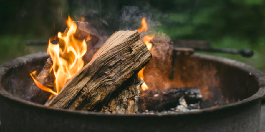 Wood Fire Pit in a Barrel