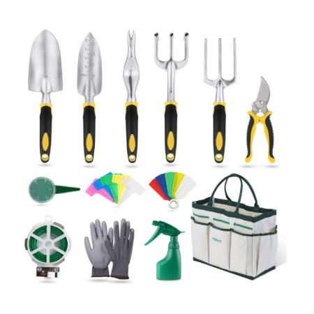 YISSVIC Garden Tools Set 12 Pieces Heavy Duty Gardening Kit