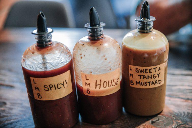 Three spicy sauces