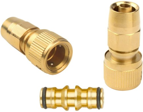 Gardeningwill Brass Garden Expanding Hose Joint Male Pipe Adaptor Repair with Quick Connector