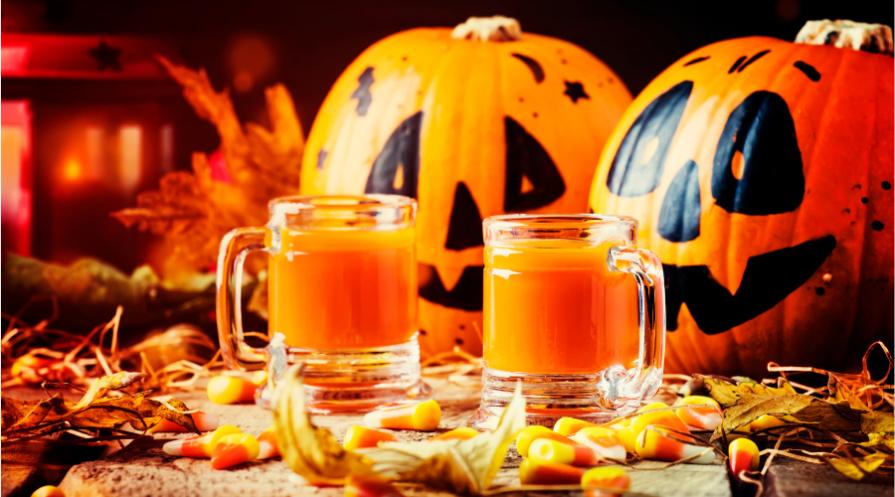 candy corn Halloween drinks
