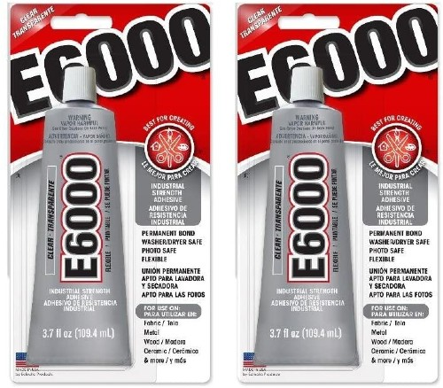 two packages of E6000 craft adhesive brand new