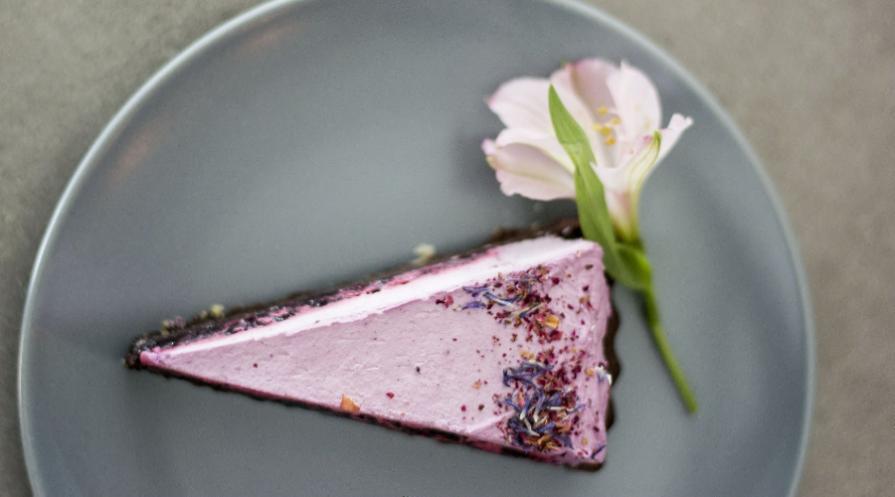 Slice of purple pie