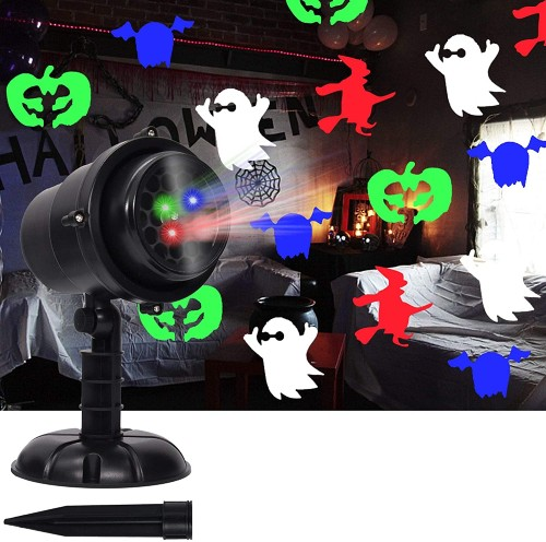 Twinkle Star Halloween Decorations Light Projector