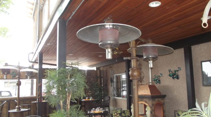 Two-headed patio heater