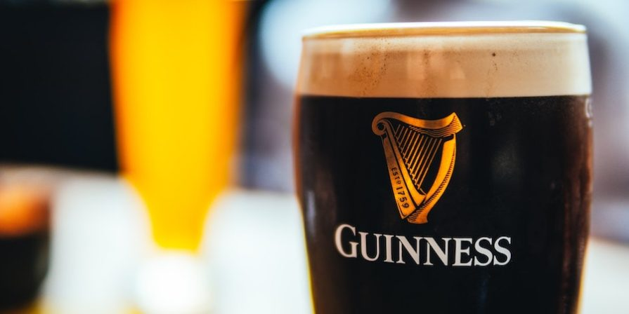 Guinness beer in a glass
