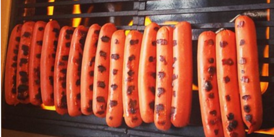 Hot Dogs on Indoor Grill