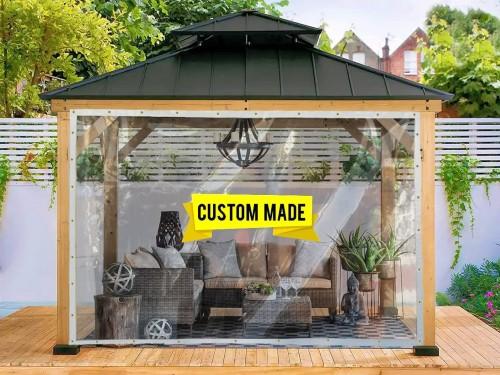 AKON Curtain Track Custom Size Clear Tarp