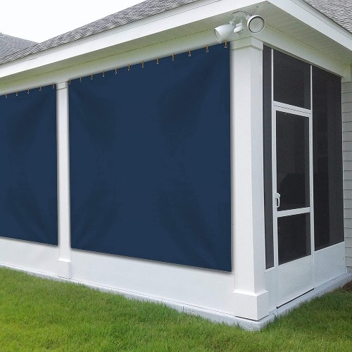 Covers & All Store Outdoor Vinyl Curtain for Patio