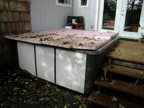 dirty hot tub cover