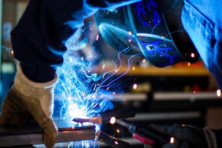 A man welding